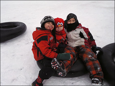 Snow Tubing at Eko Backen